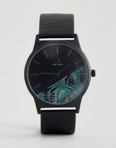 Часы с принтом пальм на циферблате ASOS - Черный