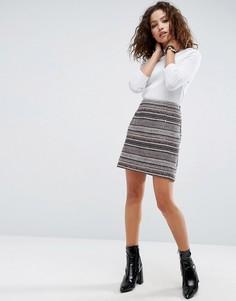 Мини-юбка в полоску ASOS - Мульти