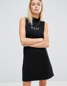 Платье с логотипом Nicce London Erin - Черный