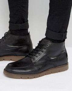 Кожаные ботинки на теплой подкладке Jack & Jones Kingston - Черный