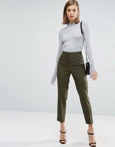Узкие брюки с завышенной талией ASOS - Зеленый