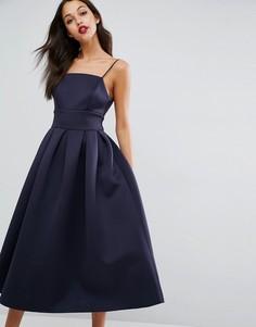 Платье миди для выпускного ASOS - Темно-синий