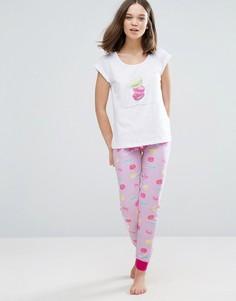 Пижама с миндальными пирожными Loungeable - Белый