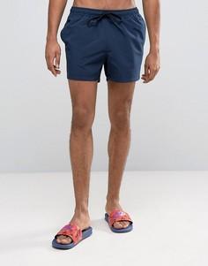 Темно-синие короткие шорты для плавания ASOS - Темно-синий