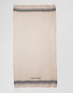 Пляжное полотенце Calvin Klein - Кремовый