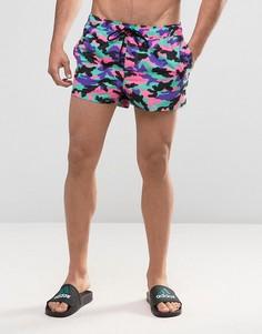 Очень короткие шорты для плавания яркой камуфляжной расцветки ASOS - Мульти