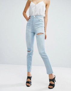 Узкие джинсы в винтажном стиле ASOS - Синий