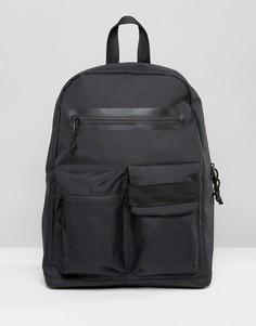 Черный рюкзак с карманами спереди ASOS - Черный