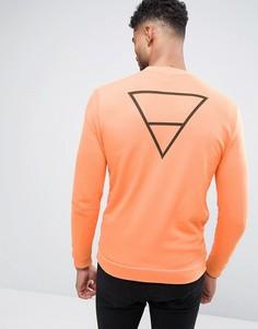 Трикотажная куртка-пилот с принтом треугольника сзади ASOS - Оранжевый