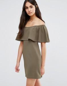 Платье с открытыми плечами Daisy Street - Зеленый