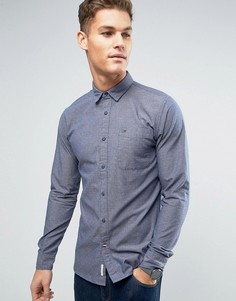 Рубашка классического кроя из ткани добби Hilfiger Denim - Темно-синий