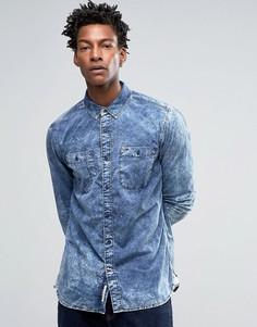 Рубашка классического кроя Hilfiger Denim - Синий