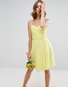 Платье мини со сборками ASOS WEDDING - Желтый