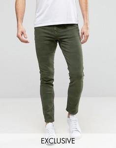 Камуфляжные джинсы скинни Brooklyn Supply Co - Зеленый