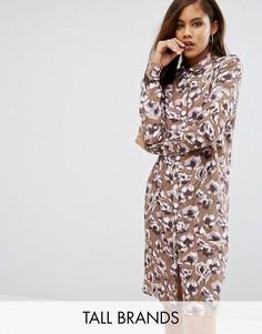 Платье-рубашка с принтом Y.A.S Tall - Мульти