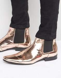 Ботинки челси с эффектом металлик ASOS - Медный