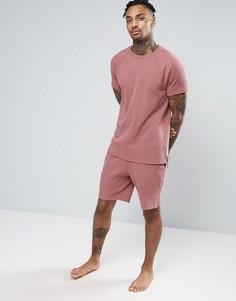 Розовые шорты с вафельным рисунком ASOS - Красный