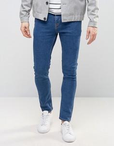 Синие укороченные джинсы суперскинни ASOS - Синий