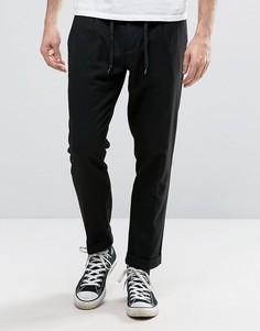 Суженные укороченные брюки со складками Sisley - Черный