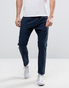 Суженные укороченные брюки Sisley - Темно-синий