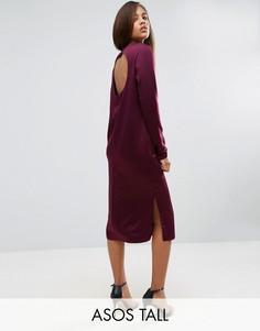 Платье миди с вырезом сзади ASOS TALL - Красный