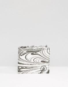 Белый бумажник с разводами краски Volcom - Белый