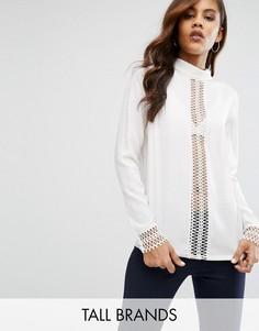 Блузка с ажурными вставками Y.A.S Tall Eva - Кремовый