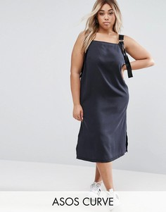 Черное джинсовое платье с D-образными кольцами ASOS CURVE - Черный