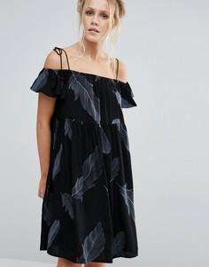 Платье с открытыми плечами Little White Lies Francoise - Черный