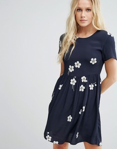 Приталенное платье Little White Lies Daisy Age - Синий