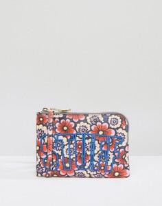Сумка через плечо с цветочным принтом и надписью Stuff House Of Holland - Мульти