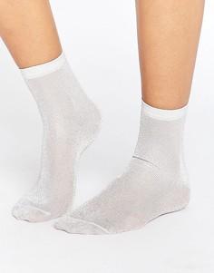 Серебристые блестящие носки ASOS - Серебряный