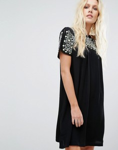 Платье с отделкой Little White Lies Oaxacan - Черный
