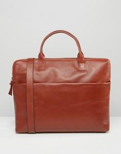 Кожаный портфель коньячного цвета Royal RepubliQ Courier - Коричневый