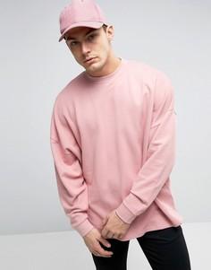Oversize-свитшот с асимметричным краем ASOS - Розовый