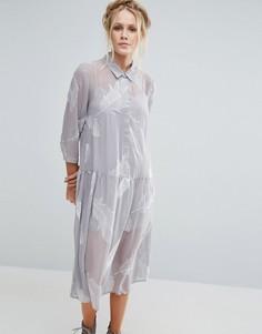 Платье-рубашка с принтом Little White Lies Pookie - Серый