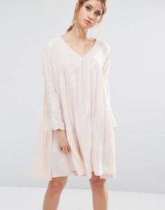 Платье с присборенной юбкой Little White Lies Isla - Розовый