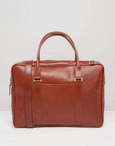 Кожаная сумка коньячного цвета для ноутбука Royal RepubliQ Affinity - Коричневый