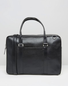 Черная кожаная сумка для ноутбука Royal RepubliQ Affinity - Черный