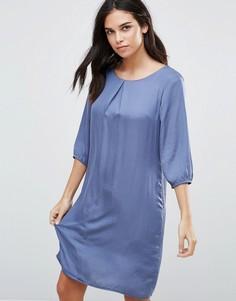 Цельнокройное платье с рукавами 3/4 b.Young - Синий