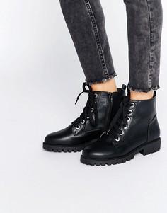 Ботинки со шнуровкой London Rebel - Черный