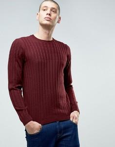 Джемпер крупной вязки с добавлением шерсти ASOS - Красный