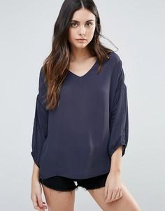 Блузка с длинными рукавами b.Young - Темно-синий