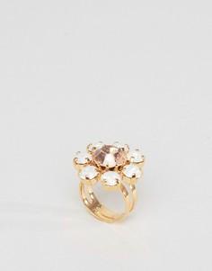 Кольцо с кристаллами Swarovski от Krystal - Кремовый