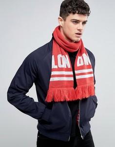 Вязаный шарф Abuze London LON DON - Черный