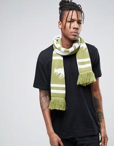 Вязаный шарф с шевронным узором Abuze London - Зеленый