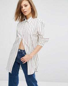 Рубашка в полоску Wood Wood Frankie - Белый