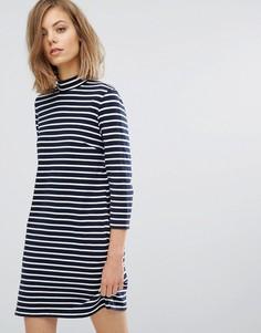 Полосатое платье Wood Wood Mary - Темно-синий