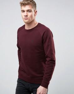 ASOS Sweatshirt With Logo In Burgundy - Красный