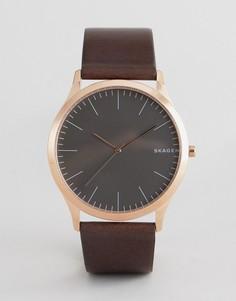 Часы с черным кожаным ремешком Skagen SKW6330 Jorn - 40 мм - Черный